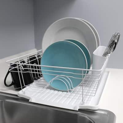 3-Piece Contempo in White Dish Rack