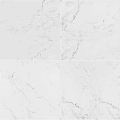 Cararra 24 in. x 24 in. Polished Porcelain Floor and Wall Tile (16 sq. ft./Case)