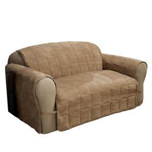 Camel Ultimate Faux Suede Camel Loveseat Protector
