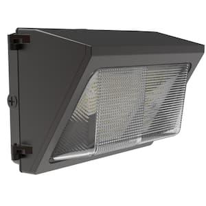 120-Watt Equivalent Integrated LED Bronze Outdoor Industrial-Grade Wall Pack Light