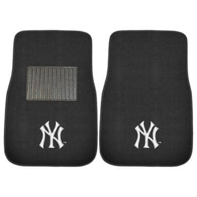 MLB New York Yankees 2-Piece 17 in. x 25.5 in. Carpet Embroidered Car Mat