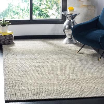 Natura Grey 9 ft. x 12 ft. Solid Area Rug