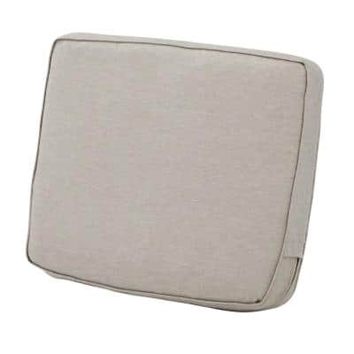 Montlake 21 in. W x 20 in. x 4 in. Thick Heather Grey Rectangular Outdoor Lounge Chair Back Cushion