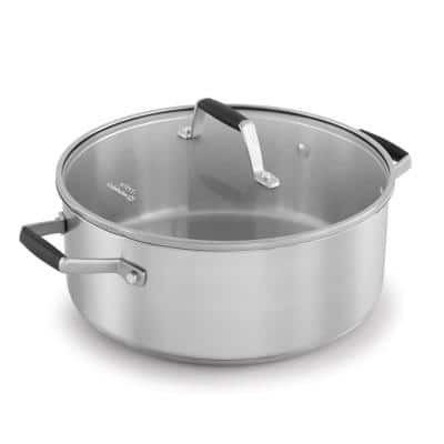 Select 5 qt. Round Stainless Steel Dutch Oven with Glass Lid