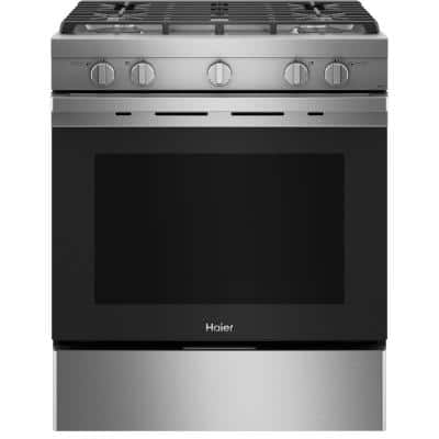 5.6 cu. ft. Smart Slide-in Gas Range with Self-Cleaning Convection in Stainless Steel