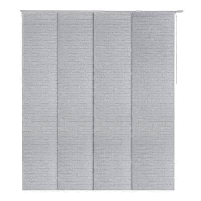 Diamond Silver Light Filtering Adjustable Sliding Window Panel Track with 23 in. Slates Up to 86 in. W x 96 in. L