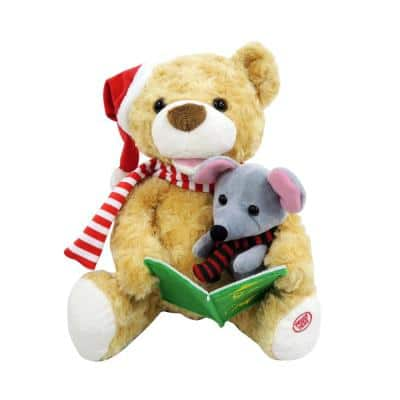 10.5 in. Christmas Animated Storytelling Bear and Mouse