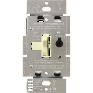 Toggler LED+ Dimmer Switch for Dimmable LED, Halogen and Incandescent Bulbs, Single-Pole or 3-Way, Almond