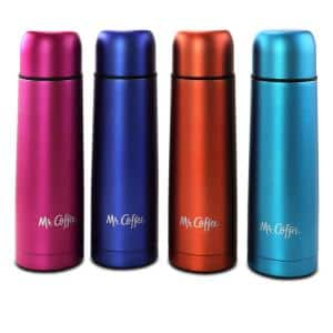 Luster Javelin 16 oz. Assorted Colors Thermal Travel Bottle Set (Set of 4)
