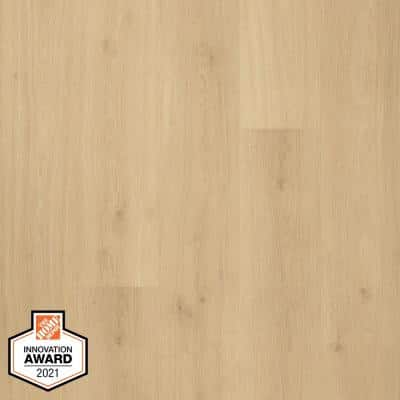 Defense+ 7.48 in. W Sun Veiled Oak Antimicrobial Waterproof Laminate Wood Flooring (19.63 sq. ft./case)