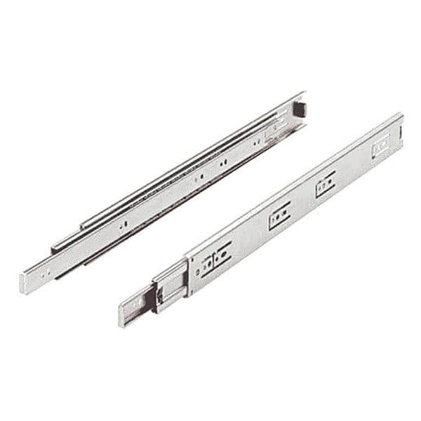 Self//Soft Closing Drawer Slides Runners 2 Pair-Ball Bearing 3 Fold Full Extension Side Mount Cabinet Hardware with 100 lb.Load Capacity Drawer Slides 12
