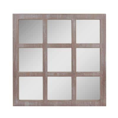 Medium Square Gray Casual Mirror (23.5 in. H x 23.5 in. W)