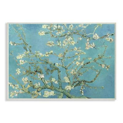 """10 in. x 15 in. """"Van Gogh Almond Blossoms Post Impressionist Painting"""" by Vincent Van Gogh Wood Wall Art"""