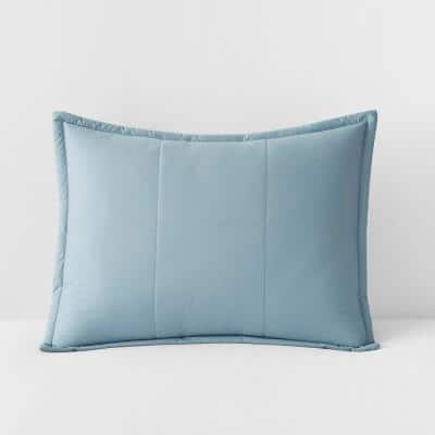 LaCrosse Sea Mist Solid Quilted Cotton Standard Sham
