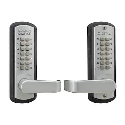 Satin Chrome Marine Grade Double Combination Mechanical Keyless Storeroom Lever Lock with Passage Function
