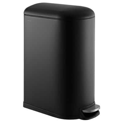 Roland Mini 2.6 Gal. Black Step-Open Trash Can