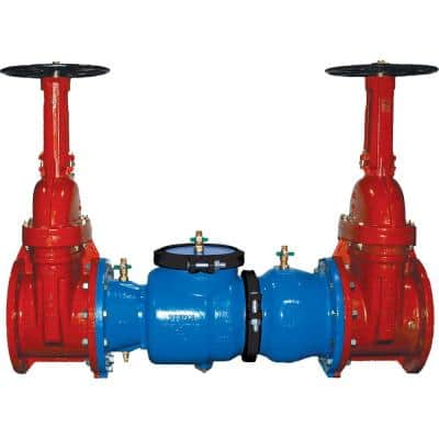 12 in. 350 Double Check Valve Backflow Preventer, with OS&Y Gate Valves