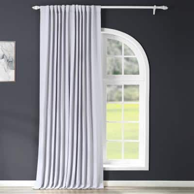 Fog Grey Rod Pocket Blackout Curtain - 100 in. W x 108 in. L