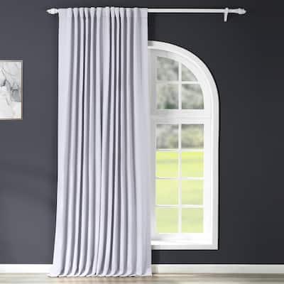 Fog Grey Rod Pocket Blackout Curtain - 100 in. W x 120 in. L