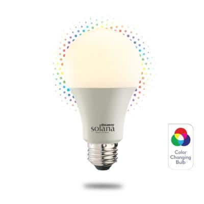 Solana 60-Watt Equivalent A19 Dimmable Smart Wi-Fi Connected LED Light Bulb Color Changing (1-Bulb)