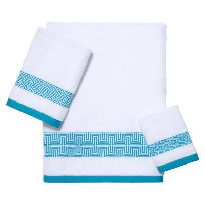 3-Piece White Now House by Jonathan Adler Mercer Cotton Towel Set