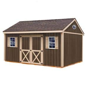 Brookfield 16 ft. x 12 ft. Wood Storage Shed Kit