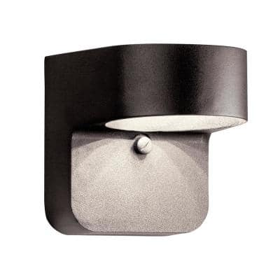 Independence 5.5 in. 1-Light Architectural Bronze Outdoor Integrated LED Wall Mount Sconce