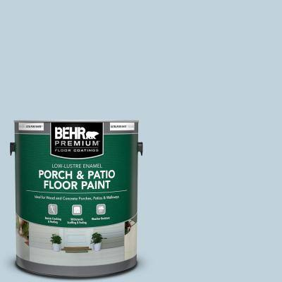 Behr Premium 1 Gal M520 2 After Rain Low Lustre Enamel Interior Exterior Porch And Patio Floor Paint 605001 The Home Depot