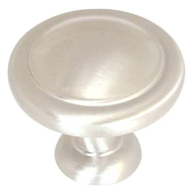 Allison Value 1-1/4 in (32 mm) Diameter Satin Nickel Cabinet Knob