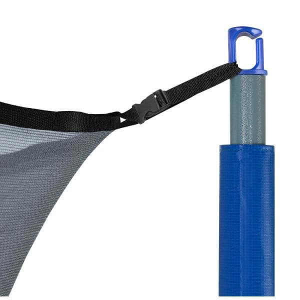 Universal Trampoline Pole Cap Enclosure Net Hook  blue