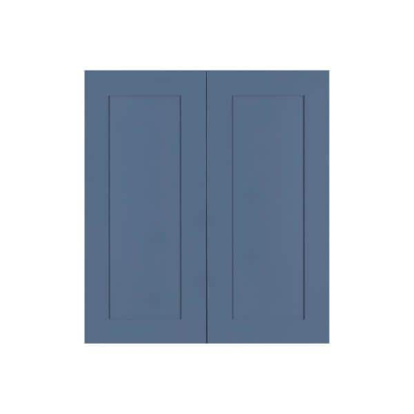 Lifeart Cabinetry Lancaster Medium Blue Plywood Shaker Stock Assembled Wall Kitchen Cabinet 36 In W X 36 In H X 12 In D Alb W3636 The Home Depot