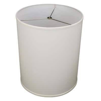 14 in. Top Diameter x 14 in. Bottom Diameter x 18 in. Height Linen Cream Drum Lamp Shade