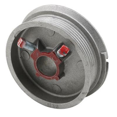 Diecast, Red Painted Left Hand Torsion Spring Cable Drum