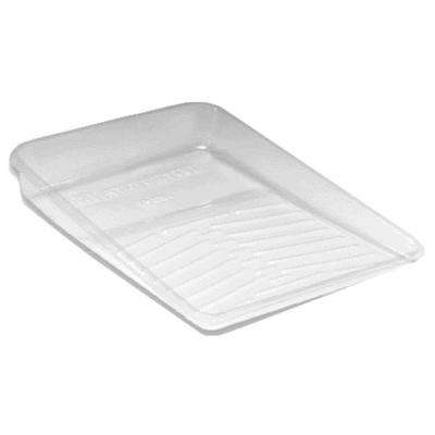 11 in. Pro Clear Plastic Deluxe Tray Liner (3-Pack)