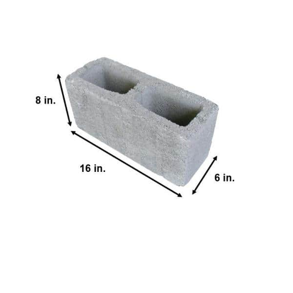 16 In X 8 In X 6 In Concrete Block 30163601 The Home Depot