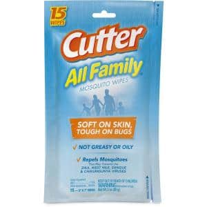 All Family Mosquito Wipes Insect Repellent With 7.15% DEET (15-Count)