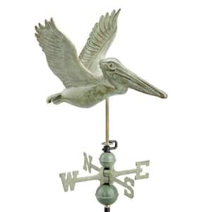 Pelican Weathervane- Blue Verde Copper