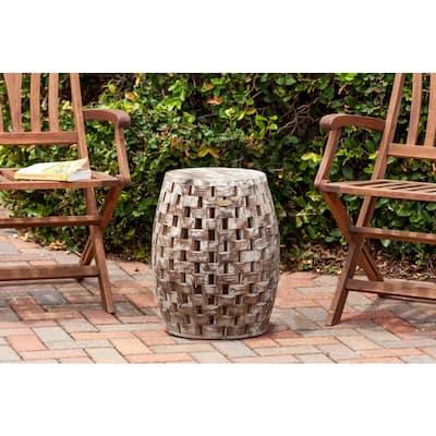 Maya Oval Wood Outdoor Garden Stool