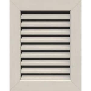 25 in. x 37 in. Rectangular Primed Smooth Western Red Cedar Wood Built-in Screen Gable Louver Vent