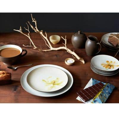 Colorwave Chocolate Brown Stoneware Square 4-Piece Place Setting (Service for 1)