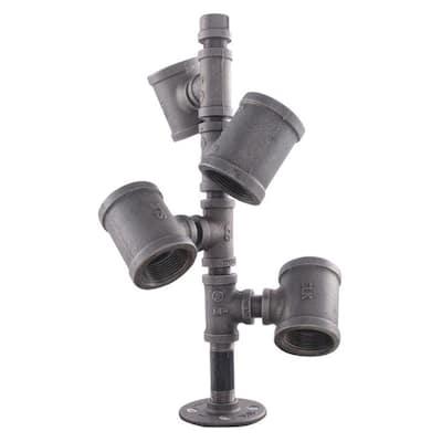 Wine Rack Kit in Industrial Steel Grey Pipe