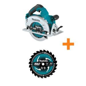 18-Volt X2 LXT (36-Volt) Brushless Cordless 7.25 in. Circular Saw (Tool-Only) w/Bonus 7.25 in. Carbide-Tipped Saw Blade