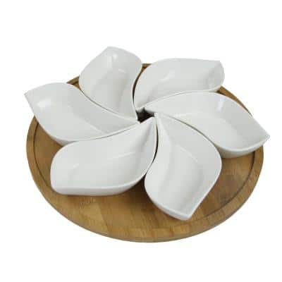 Modern Lazy Susan Appetizer and Condiment Server Set