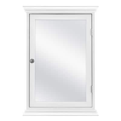 19.8 in. x 28.2 in. Fog Free Surface Mount Medicine Cabinet in White with Mirror