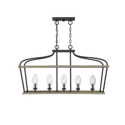 5-Light Weathervane Outdoor Hanging Chandelier