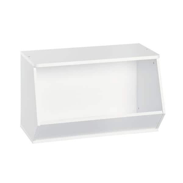 ClosetMaid KidSpace 24 in. W x 17 in. H White Stackable Angled 1-Cube Organizer   The Home Depot