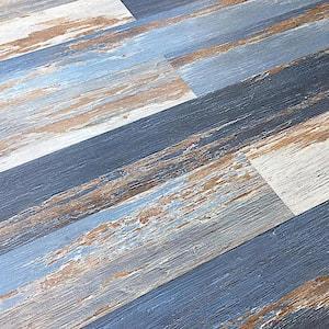 HydroStop Old Blue Sea Floor&Wall DIY 7.2 in. W x 48 in. L Rigid Core SPC Click Floating Vinyl Plank(24.00 sq.ft. /case)