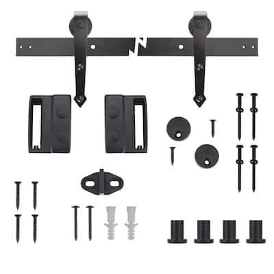 72 in. Dark Oil-rubbed Bronze Arrow Sliding Barn Door Track and Hardware Kit