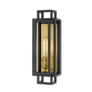 1-Light Bronze and Olde Brass Wall Sconce