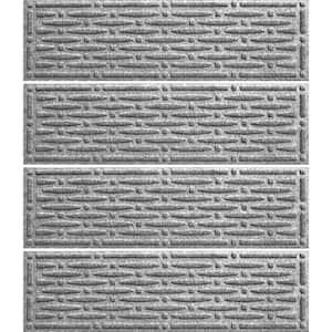 Mesh 8.5 in. x 30 in. Stair Treads (Set of 4) Medium Gray